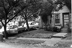 Street scene during investigation.